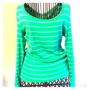 Green Striped Ann Taylor Top